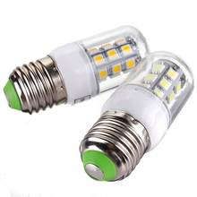 Lowest Price E27 3W 350LM 27 LED 5050 SMD Energy Saving Pure Warm White Corn Light Lamp Bulb AC/DC12V