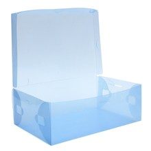 5Pcs Plastic Shoe Boot Box Stackable Foldable Colorful Storage Cases Clear Space Saving Shoes Organizer(China)