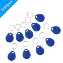 100pcs/lot TK4100 125KHz RFID Tag Cards Proximity Keyfobs Ring Door Control Entry Access EM Key Chain Card RFID Keyfbos(China)