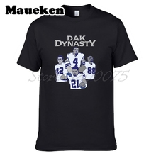 Men Dallas Dak Dynasty Dak Prescott Ezekiel Elliott Dez Bryant Jason Witten T-shirt T Shirt Men's for Cowboys fans tee W17110112(China)
