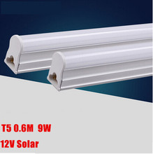 2pcs/lot T5 Led Tube Light 600mm 9W 2ft 0.6M SMD 2835 Led Bulb Fluorescent Tube AC85-265V or 12V Warm White/Cool White(China)