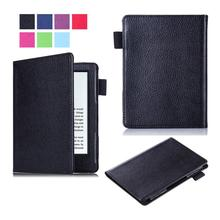 "PU Leather Litchi Case For Amazon New Kindle 2016 8th Generation Ebook 6"" Cover For 2016 New Kindle Tablet Case+Film+Stylus Pen(China)"