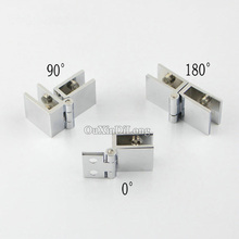 High Quality 4PCS Brass Hinges Wine/Bar Glass Door,Cabinets,Showcase Hinges,Suitable for Glass Thickness 5-8mm 90/180/0 degree