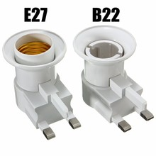 E27/B22 Lamp Base UK Plug Wall Screw Base Light Bulb Lamp Socket Holder Adapter Converter 110-240V With ON/OFF Switch(China)