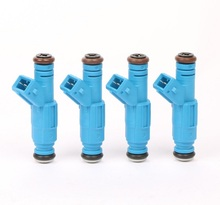 MOSTPLUS Set of 4 EV1 Fuel Injectors 30lb For VW Audi Ford 315cc 1.8T Turbo 2.3L(China)