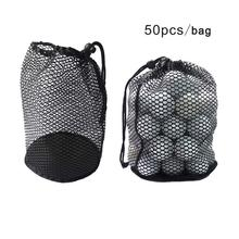 Golf mesh bag Black Durable Nylon Mesh Net Bag Pouch Golf Tennis 12/25/50 Balls Holder Hold Ball Storage Closure Training Aid(China)