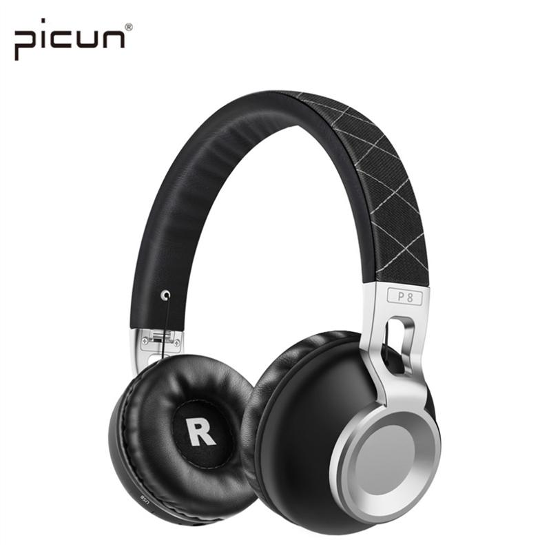 Picun P8 Wireless Bluetooth Headphones Support TF Card Stereo With and Mic Headphone Bluetooth Headsets for Phone PC .<br>