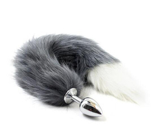 Fetish Fantasy Soft Wild Fox Tail Metal Stainless Steel Anal Butt Plug,Adult Cospaly Accessories,Sex Toys For Woman