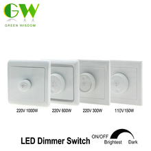 LED Dimmer Switch 110V 150W /220V 300W 600W 1000W Brightness Controller For adjustable LED lights