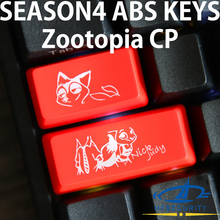 [HFSECURITY] Lovely ABS Keycaps for Mechanical Keyboard Caps Lock Left Shift Button Zootopia Judy Cartoon OEM Keypress(China)