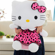 "30""  75cm Pink/Hot Pink/ Blue color Big Size Hello Kitty Plush Toys Finished Stuffed Soft Toys Factory Supply The Best Quality"