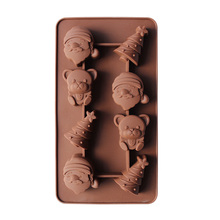 Christmas Cake Silicone Mold Xmas Tree Santa Claus Handmade Soap Chocolate Mould Ice Cube Tray 3D DIY Baking Tools 15