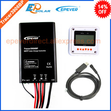 15A regulator solar panel mppt controller charging controller Tracer3906BP 15amp 12v 24v auto type with USB cable and MT50
