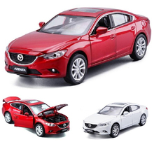 New 1:32 Mazda 6 ATENZA Alloy Diecast Car Model Pull Back Toy Car Model Classical Car For Kids Birthday Gifts Toy Free Shipping