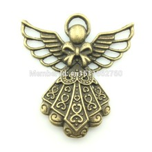 Buy 5pcs Vintage Charms Guardian Angel Pendant Antique Bronze Fit Bracelet Necklace DIY Metal Jewelry Making Size:42*39mm D11156 for $3.69 in AliExpress store