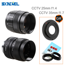 Buy 2 1 CCTV 25mm f1.4/35mm F1.7 TV Movie lens+C Mount+Macro ring Sony E Mount NEX3 NEX-C3 NEX-F3 NEX-5 NEX-5N NEX-5R NEX-5T for $39.20 in AliExpress store