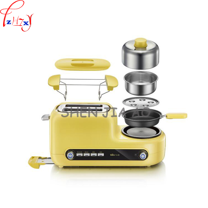 1pc 220V Home multifunctional breakfast machine toaster fried egg steamed bread steamed egg breakfast machine<br>