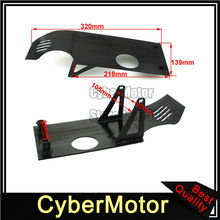 Black Aluminum Engine Skid Plate For Dirt Pit Bike XR50 CRF50 50cc 70cc 90cc 110cc 125cc 140cc Lifan YX SSR YCF GPX SDG(China)