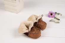 Cheap Price!! Soft PU Suede Leather Newborn Baby Boy Winter Shoes Moccasins Bebe Soft Soled Footwear Crib Baby Shoes 0-6M