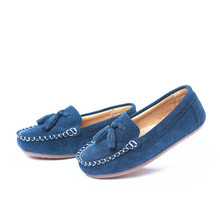 MAGGIE'S WALKER Kids Boys Girls Moccasins Slipony Loafers Genuine Leather Suede Fringe Boat Shoes Old Classic Skool Sneakers(China)