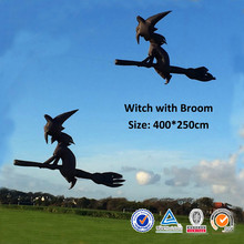 free shipping high quality 4m Witch With Broominflatable kite ripstop nylon weifang kite factory surf kite rods kitesurf bar big