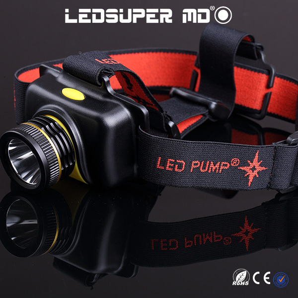 New Products Waterproof Strong Light Rechargeable T6 LED Headlamp Flashlight with Batteries<br>