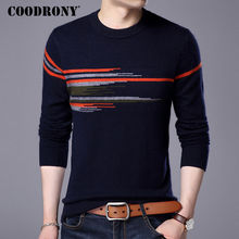 COODRONY Sweater Men 2017 New Fashion Pattern O-neck Pull Homme Winter Thick Warm Wool Sweaters Mink Cashmere Pullover Male 7315(China (Mainland))
