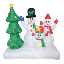 180cm Giant Christmas Tree Snowman Family Inflatable Toys Santa Claus LED Light Xmas Prop Winter Party Blow Up Decoration Castle(China)
