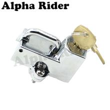 "Helmet Security Lock Anti-theft Protection Set Motorcycle Pit Dirt Racing Bike Bicycle 22MM 7/8"" Straight Tube Sissy Bar Handle"