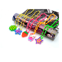 100pcs/bag crystal plastic necklaces led light up flashing animal Mix shape and multi-color party favors toy