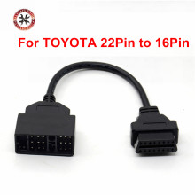For Toyota 22 Pin To 16 Pin OBD2 Diagnostic Adapter Cable For Toyota Car 22pin to 16pin OBD To OBD2 Connect Cable CNP Free