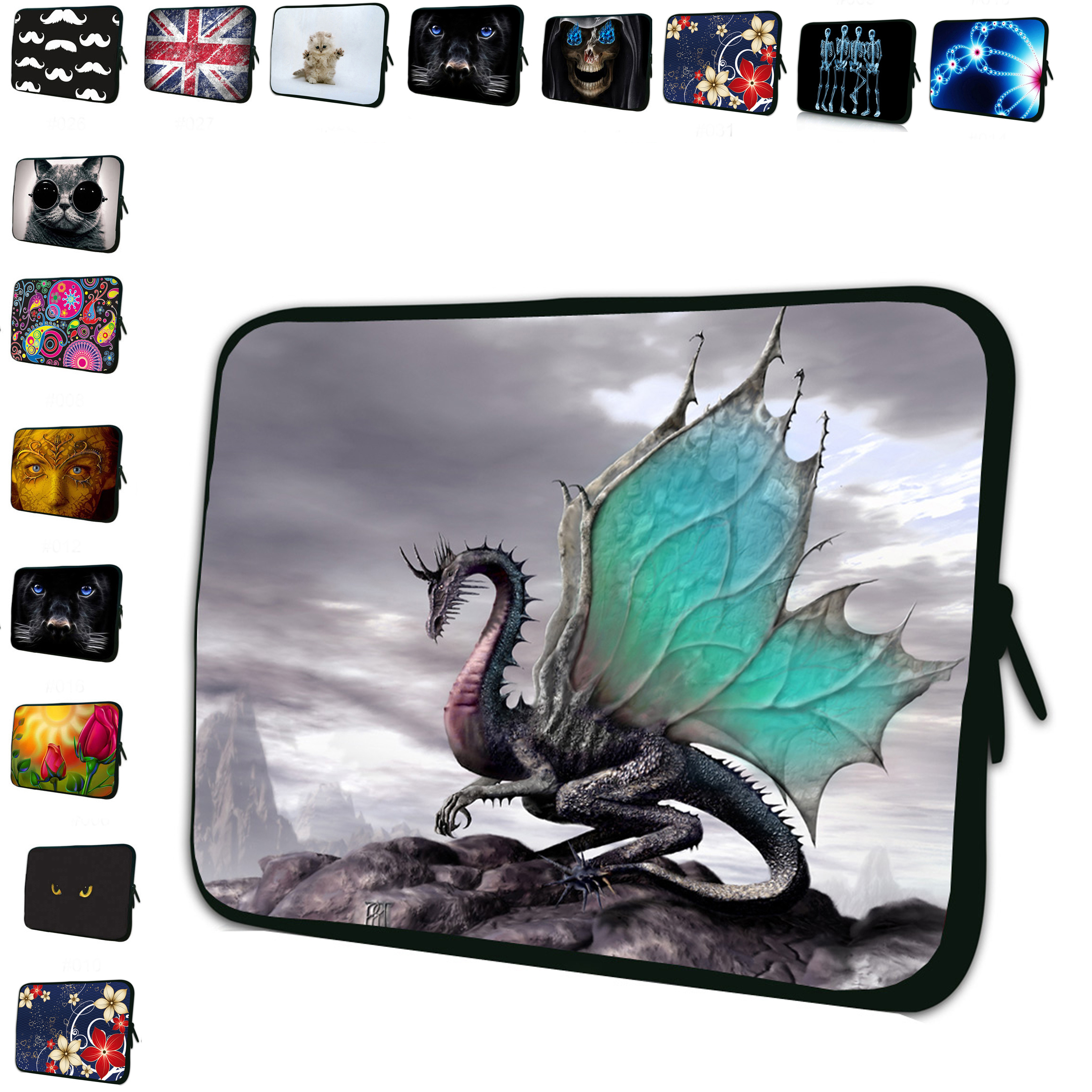 Computer 15 INCH Sleeve Bag Duo Zipper Soft Cases Cool Dragon Neoprene 15.4 inch 15.6 Notebook Laptop Portable Bags Pouch<br><br>Aliexpress