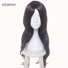 ccutoo 65cm Dark Brown / Light brown /Blonde and Black 4 Colors Curly Long Synthetic Hair Heat Resistance Cosplay Full Wigs Hair