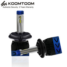 K8F H4 LED Headlights Hi Lo Beam 3.04 inch the Smallest Size LED Bulb H4 for Auto Headlight Kit 4500LM CREES XHP-70 6500K 12V