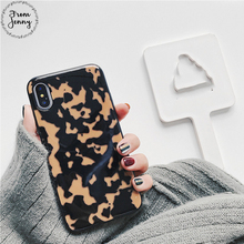 From Jenny Leopard Phone Case for iPhone 6s 6Plus 7 7Plus i7 Stone Texture Funda Cover For iPhone 8 8plus X(China)