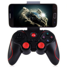 Bluetooth android game controller wireless joystick gamepad with phone holder for mobile phone tablet PC