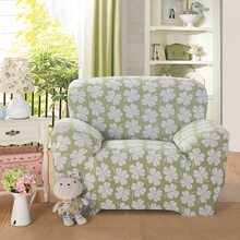 Clover Leaves Green Nature Polyester Sofa Cover Big Elasticity Flexible Couch Cover Machine Slip-resistant Drawing Decorate