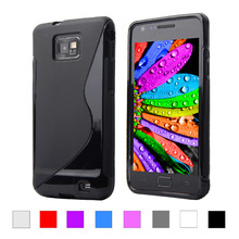 For Samsung Galaxy S2 i9100 SII Matte Soft Plastic Case Ultra Thin S LINE Anti Skiding Gel Silicon PU Cover Phone Case black