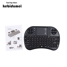 2.4GHz Russian English Version Mini USB Wireless Keyboard Touchpad Air Mouse Fly Mouse Remote Control for Android Windows PC ps3