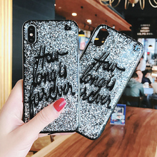 Buy YISHANGOU Fashion Bling Glitter Sequins Silver Letter Phone Cases iPhone X 8 Plus Soft TPU Back Cover iPhone 7 6 6S Plus for $3.23 in AliExpress store
