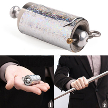1pcs 110CM length Silver Appearing Cane Metal good quality magic tricks for professional magician stage close up magie illusion(China)