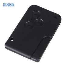 Dandkey Remote Car Key 3 Buttons Replacement Key Card Shell Case Cover for Renault Clio Megane Grand Scenic
