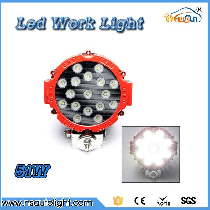 51W LED Work Light Lamp for Off Road Forklift Bowfishing ATV Flood  beam Cabin/Boat/SUV/Truck/Car ATV Fishing Deck Driving Light<br><br>Aliexpress