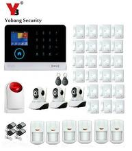 Yobang Security-Android IOS APP Alarms Home Security System WIFI GSM Smart Home Motion Detector HD IP Camera Surveillance