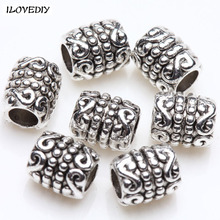 Buy Wholesale 50pcs/100pcs Metal Antique Silver Tibetan spacer tube beads metal Jewelry Spacer Beads Making Bracelet Jewelry for $1.08 in AliExpress store