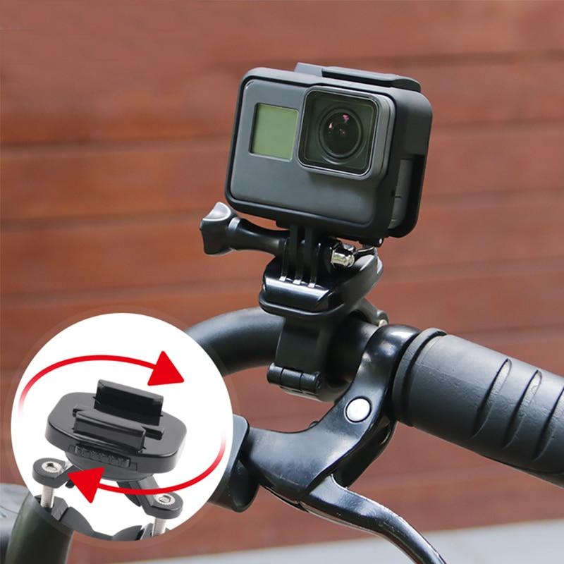 Bike Handle bar Mount Bicycle Clamp For 4K Action Cameras gopro hero7//6//5 Xiaomi