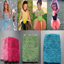 Retail Fashion kids girls 6 inch tutus 15x13cm crochet headband  diy tutu skirt material