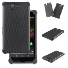 Screen Protector+2 in 1 Hybrid Combo Impact Armor Rugged Silicone&PC Hard Case Cover For Sony Xperia Z Yuga C6603 L36h Z2 Z5
