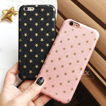 Fashion Ultra Thin Gold Stars Pattern Case For iphone 6 Case For iphone 6S 6 Plus 5 5S SE Phone Cases Cute Back Cover Capa Funda