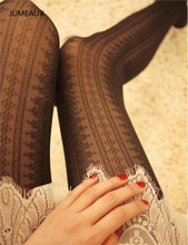 Buy JUMEAUX Lace High Elastic Slim Women's Pantyhose Fashion Casual Vertical Stripes Tights